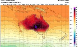 Avustralya'da Artan Sıcaklık
