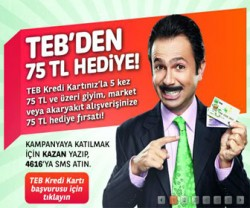 TEB'den 75 TL hediye