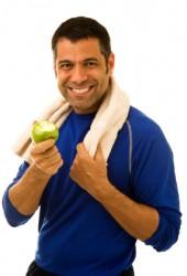 Athlete Eating an Apple